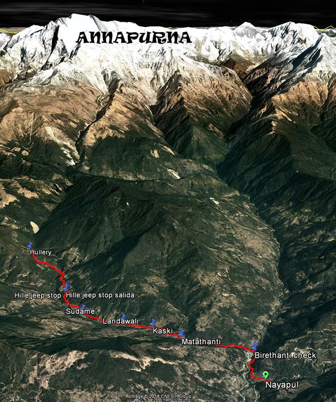 Pokhara-Nayapul-Hullery 29-10-17